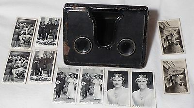 Vtg Cavanders camerascope/stereoscope viewer(with 5 pairs cigarette cards)
