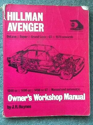 Hillman Avenger Owners Workshop Manual