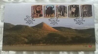South Africa Stamps, First Day Cover, The Big Five - 24/2/2006