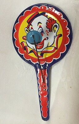 Vintage KIRCHOF Tin Halloween Party New Years  Clown Noise Maker