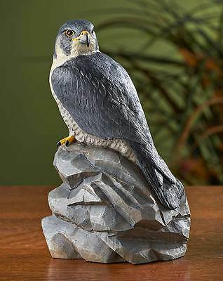 Peregrine Falcon Sculpture by Randal Martin Bird of Prey Wildlife Figurine