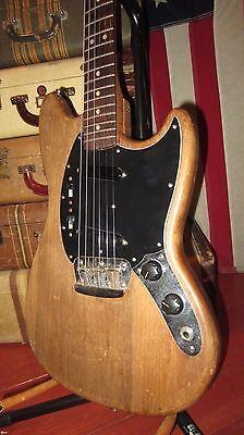 Vintage 1965 Fender Musicmaster II Duo Sonic Electric Guitar Natural w/ Gigbag