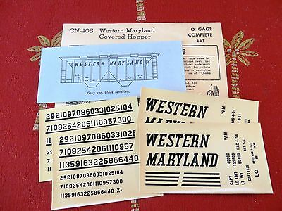 Champ Western Maryland O Scale Covered Hopper Decals