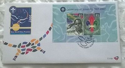 South Africa Stamps, First Day Cover, Centenary of Scouting 1907-2007, 22/8/2007