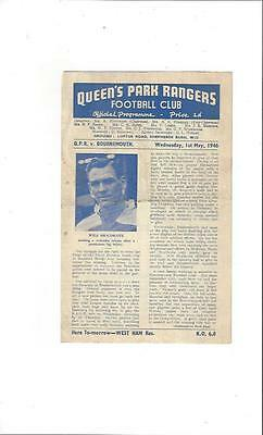 QPR v Bournemouth League Cup South Semi Final Replay 1945/46
