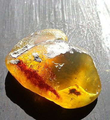 Top Grade Green Mexican Amber Stone Window Polished 34.5g
