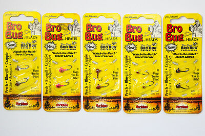 Northland Bro Bug Heads Size 10 - NEW - LOT OF 5 PACKS - Ice Fishing Jigs Lures