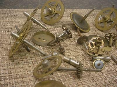 Clockmaker Lot Grandfather Westminster Brass Main Clock Movement Gears    D489c
