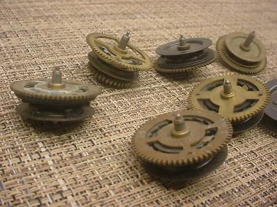 Lot of Vintage German Black Forest Cuckoo Clock Parts Clutch Wheels   E971b