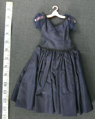 "Vintage Madame Alexander 20"" Cissy Doll Dress - Navy Blue Ballroom Gown, Tagged"