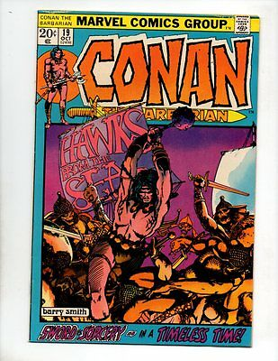"Conan the Barbarian #19 (Oct 1972, Marvel) FN/VF 7.0 ""BARRY SMITH ART"""