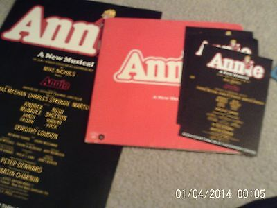 """Two 1974 """"annie"""" Posters, With Record And Ten Flyers, 1974-1977"""