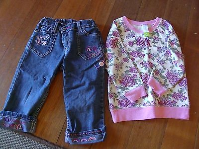 Baby Girls Top and Pants size 2-3 pumpkin patch