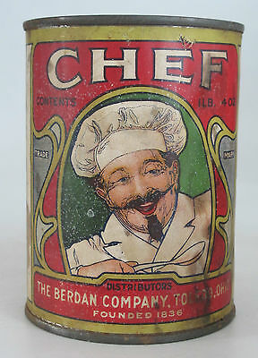 Chef Food Can: Old, Colorful, Pictures Chef