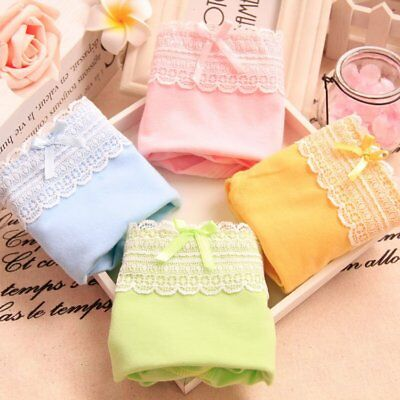 Fashion Lady Underwear Girls Woman Cotton Briefs Panties Beauty Bow Knickers CC