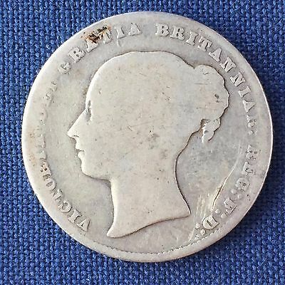 UK / Great Britain 1 Shilling Bob 1867, Victoria - Die Number 20, Silver
