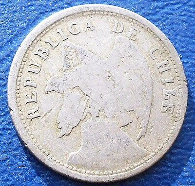 1920 So Chile 20 Centavos KM#167.1 Condor Type Nice Circulated 1st Year # 633