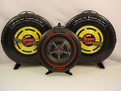 Vintage Redline Hotwheels Car Case Lot Of 3 - The Hot One's 68' Rally Case