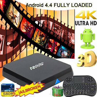 Latest 1G+8G M8S+ Plus 1080P Android Smart TV Box Quad Core + Free Keyboard#1