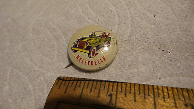 1953 Vintage Pinback Post's Grape-Nuts Flakes NELLYBELLE Roadster