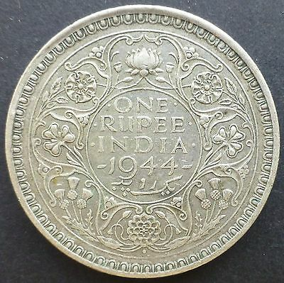 1944 British India One Rupee Coin