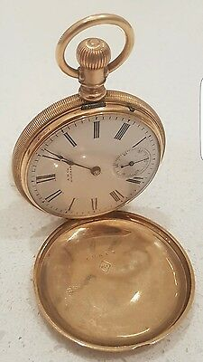 10k Solid Gold Waltham Large Pocket Watch Works Excellent Condition not scrap