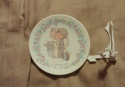 Precious Moments Wedding Mini Plate with Stand