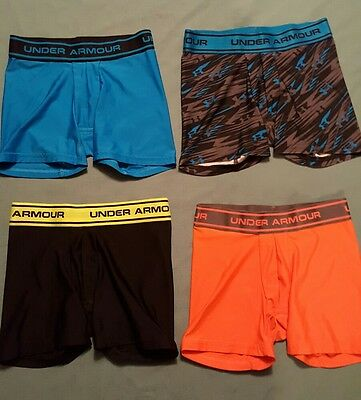 Under Armour Youth Small Boys Boxer Briefs Lot of 4 Underwear