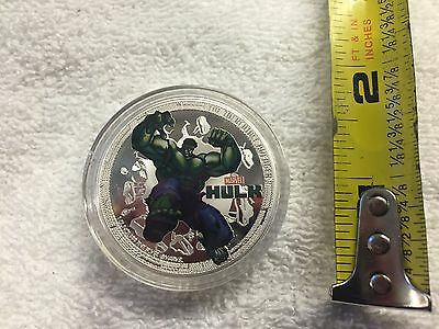 2014 Marvel Hulk Canada Silver Plated Collector Coin