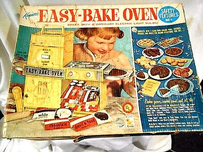 Kenner Easy Bake Oven 1964 Original Box w/Accessories