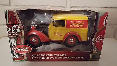 coca cola  never opened 1938 Panel Van Bank