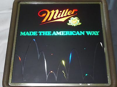 Vintage 1985 Miller Beer Made The American Way Bouncing Balls Lighted Beer Sign
