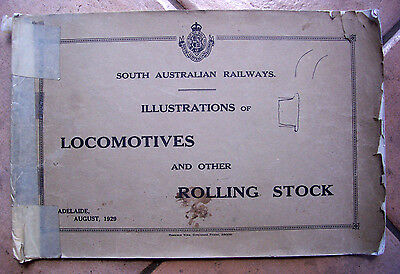 Rare  1929 Sar Book  Locomotives & Rolling Stock Illustrations - Railways