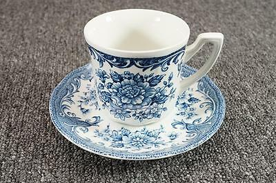 J. & G. Meakin Royal Staffordshire Cup & Saucer Avondale Ironstone Blue Floral