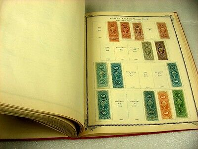 US, Excellent Revenue & other Stamps hinged in a 1941 Scott American album
