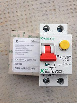 Interruttore magnetotermico differenziale AC 1P+N 10A  moeller NUOVO