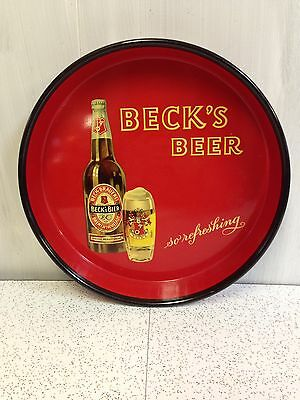 Vintage Beck's So Refreshing Beer Serving Advertising Tray
