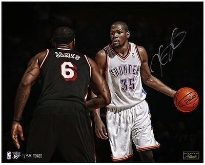 "KEVIN DURANT Signed ""Vs. James"" 16 x 20 Photograph LE 35 PANINI"