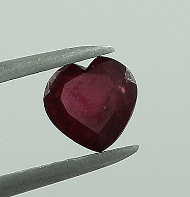 Stunning!ruby 1 Ct Heart 100% Natural Rare Faceted Cut 6 Mm Loose Gemstone