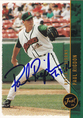 Paul Rigdon 1999 Buffalo Bisons Signed Card Cleveland Indians Milwaukee Brewers