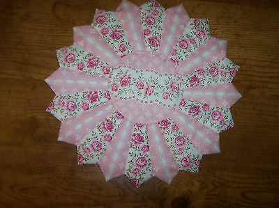 """Handmade Quilted Country Cottage Table Topper, Candle Mat, Placemat, 15"""""""