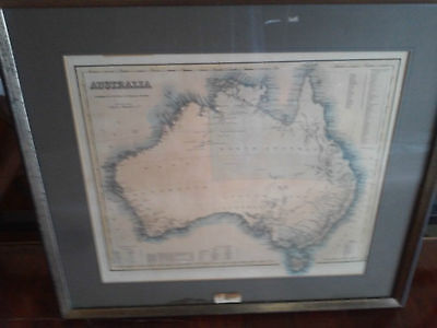 Authentic Map of AU by J.H Colton&Co Published 1858 in New York,Hand Colouring