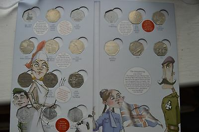 The Royal Mint Great British Coin Hunt Album  first edition - 50p with 12 coins