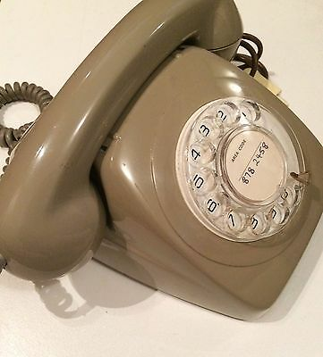 Telephone phone Rotary Dial Vintage Retro grey fone Antique old, great condition