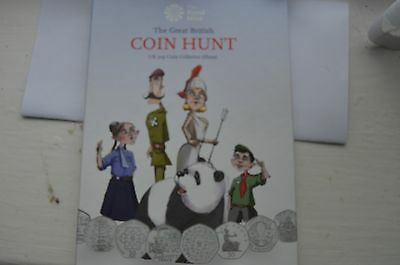The Royal Mint Great British Coin Hunt Album   - 50p with 22 coins