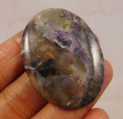 45 Cts.  NATURAL DYED LOVELY HOWLITE OVAL SHAPE LOOSE CABOCHON GEMSTONE (NC662)