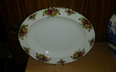 """Royal Albert """"Old Country Roses"""" 13.5 Inch Serving Platter. 1962."""
