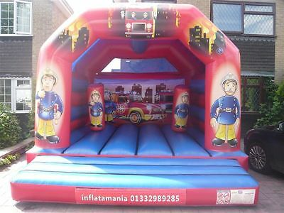 Bouncy Castle By Klc Fireman Sam Commercial Grade With Bish Bash & 1.5Hp Blower