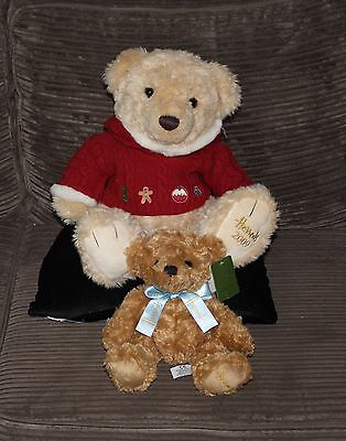 Harrods Christmas Bear 2009 + Small Bear with Ribbon