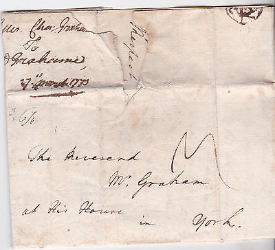1773 London Letter By Charles Graham To A Reverend In At His House In Yorkshire
